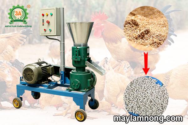 cách pha trộn thức ăn cho gà