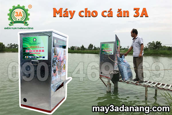 máy cho cá ăn, máy cho cá ăn tự động